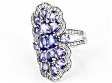 Pre-Owned Blue Tanzanite Sterling Silver Ring 4.26ctw