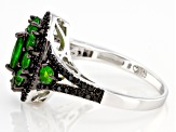 Pre-Owned Green Russian Chrome Diopside Sterling Silver Ring 1.93ctw