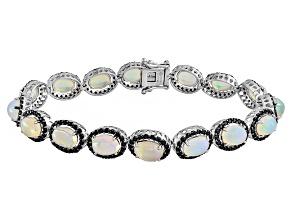 Pre-Owned Ethiopian Opal Sterling Silver Bracelet 9.25ctw