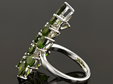 Pre-Owned Green Chrome Diopside Sterling Silver Ring 5.81ctw
