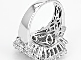 Pre-Owned White Cubic Zirconia Rhodium Over Sterling Silver Ring 8.50ctw