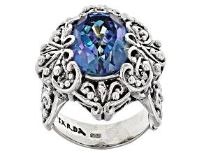 Pre-Owned Cuckoo Flower™ Mystic Quartz® Silver Ring 5.00ctw