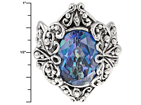 Pre-Owned Cuckoo Flower™ Mystic Quartz® Silver Ring 5.00ctw
