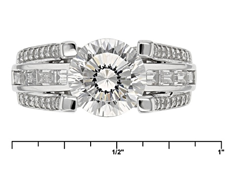 Pre-Owned Cubic Zirconia Silver Ring 5.52ctw (3.91ctw DEW)