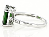 Pre-Owned Green Chrome Diopside Sterling Silver Ring 3.15ctw