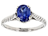 Pre-Owned Blue Kyanite Sterling Silver Ring 1.00ct