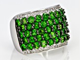 Pre-Owned Green Chrome Diopside Sterling Silver Ring 4.47ctw