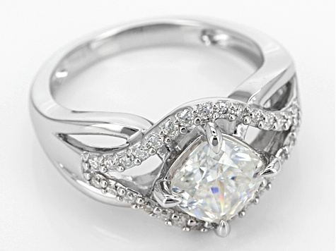 Pre-Owned Moissanite Platineve Ring 2.30ctw D.E.W