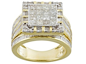 Pre-Owned White Diamond 10k Yellow Gold Ring 2.56ctw