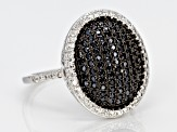 Pre-Owned Black Spinel Sterling Silver Ring 1.06ctw