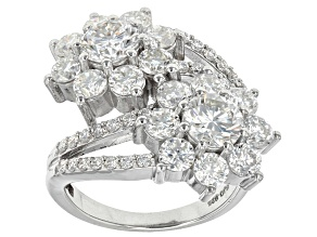 Pre-Owned Moissanite Platineve Ring 4.70ctw D.E.W