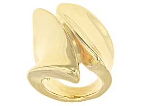 Pre-Owned 18k Yellow Gold Over Bronze Statement Ring