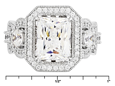 Pre-Owned Cubic Zirconia Platineve Ring 5.87ctw (4.70ctw DEW)