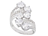 Pre-Owned White Cubic Zirconia Rhodium Over Sterling Silver Ring 9.19ctw