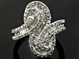 Pre-Owned Diamond Sterling Silver Ring 1.25ctw
