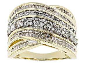Pre-Owned White Diamond 10k Yellow Gold Ring 1.80ctw