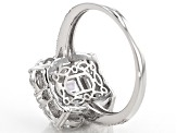 Pre-Owned White Cubic Zirconia Rhodium Over Sterling Silver Ring 5.02ctw