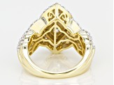 Pre-Owned white cubic zirconia 18k yellow gold over sterling silver ring