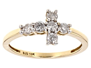 Pre-Owned White Diamond 10k Yellow Gold Ring .45ctw