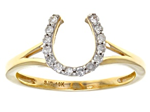 Pre-Owned White Diamond 10k Yellow Gold Ring .15ctw