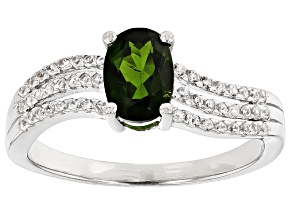 Pre-Owned Green Chrome Diopside Sterling Silver Ring. .99ctw