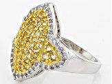 Pre-Owned Yellow Citrine Sterling Silver Ring 1.57ctw