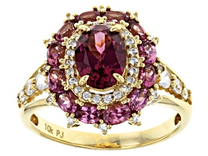 Pre-Owned Purple Garnet 10k Yellow Gold Ring 2.70ctw
