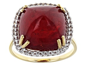 Pre-Owned Mahaleo Ruby 10k Yellow Gold Ring 14.20ctw