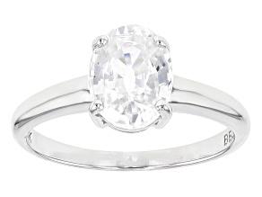 Pre-Owned White Zircon 10k White Gold Ring 2.28ct