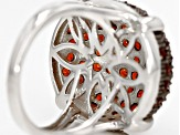 Pre-Owned Red Garnet Sterling Silver Ring 3.16ctw