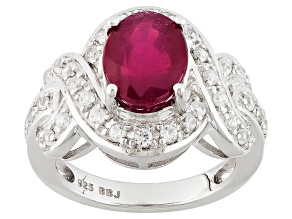 Pre-Owned Mahaleo Ruby Sterling Silver Ring 3.31ctw