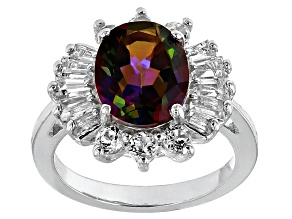 Pre-Owned Multicolor Brazilian Cosmopolitan Beyond Mystic Topaz® Sterling Silver Ring 3.63ctw