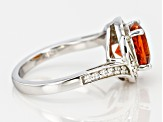 Pre-Owned Orange Madeira Citrine Sterling Silver Ring 2.00ctw