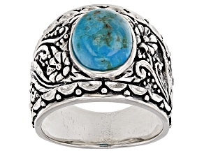 Pre-Owned Turquoise Silver Ring