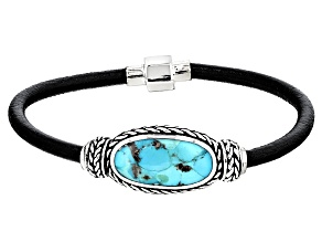 Pre-Owned Turquoise Blue Silver Bracelet