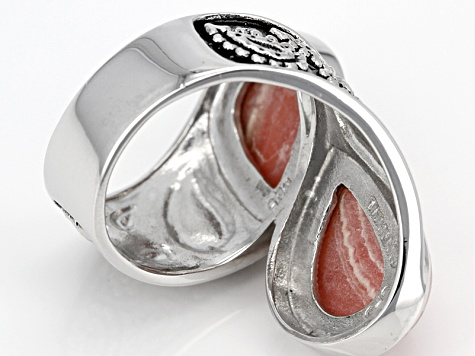 Pre-Owned Pink Rhodochrosite Sterling Silver Ring