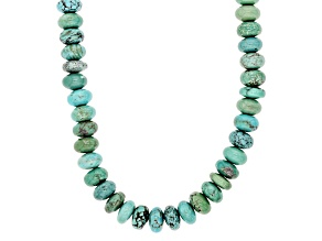 Pre-Owned Turquoise Kingman Blue Sterling Silver Necklace