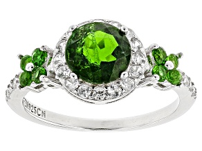 Pre-Owned Green Russian Chrome Diopside Sterling Silver Ring 2.15ctw