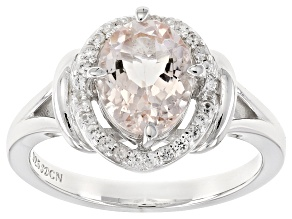 Pre-Owned Pink Morganite Sterling Silver Ring 1.60ctw