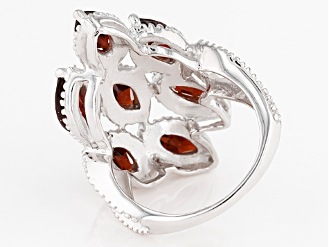 Pre-Owned Red Garnet Sterling Silver Ring 4.80ctw