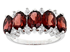 Pre-Owned Red Garnet Sterling Silver Ring 5.35ctw