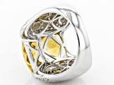 Pre-Owned Yellow Brazilian Citrine Sterling Silver Ring 9.35ctw