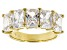 Pre-Owned Cubic Zirconia 18k Yellow Gold Over Silver Ring 5.90ctw (4.24ctw DEW)