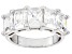 Pre-Owned Cubic Zirconia Silver Ring 5.90ctw (4.24ctw DEW)