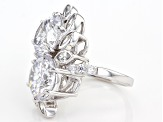 Pre-Owned Cubic Zirconia Silver Ring 18.26ctw (10.38ctw DEW)