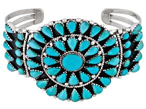 Pre-Owned Turquoise Kingman Silver Bracelet