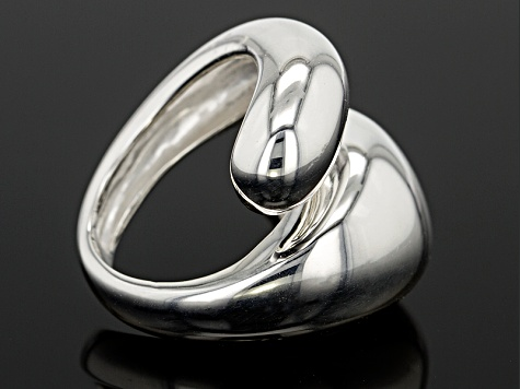 Pre-Owned Sterling Silver Dome Bypass Ring