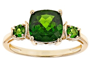 Pre-Owned Green Chrome Diopside 10k Yellow Gold Ring 2.29ctw.