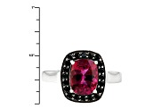 Pre-Owned Red Lab Created Bixbite Sterling Silver Ring 1.63ctw