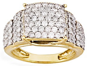 Pre-Owned White Diamond 14k Yellow Gold Ring 2.10ctw